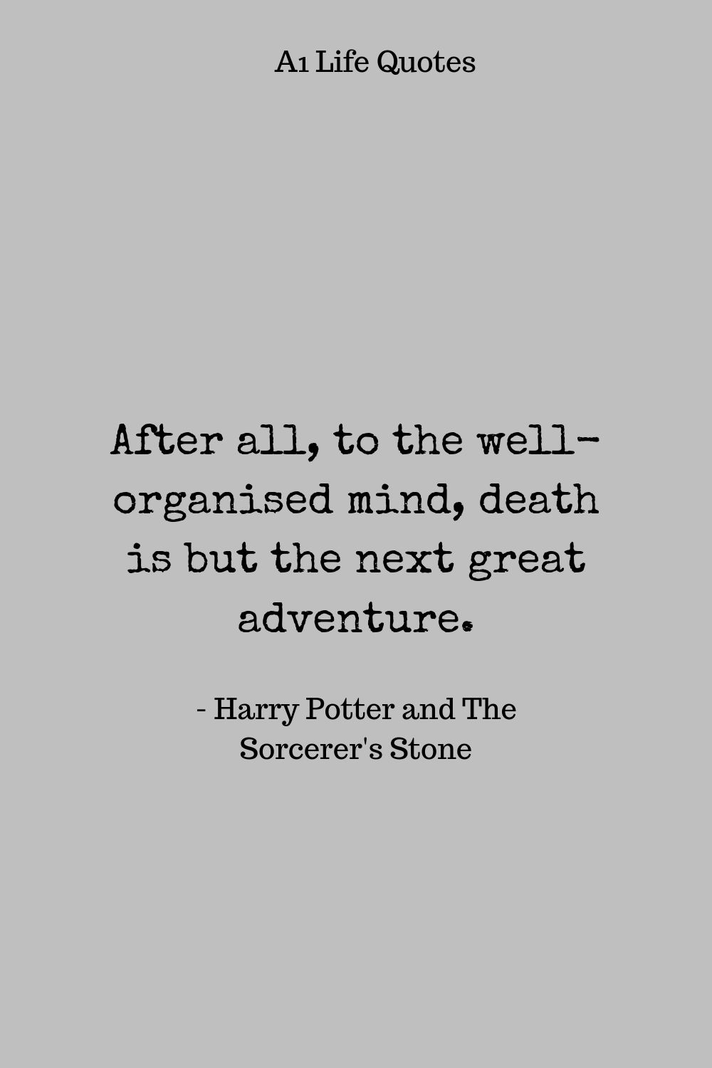 harry potter quotes about death