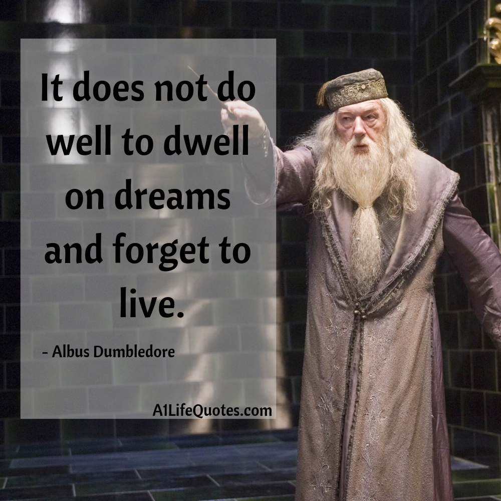 harry potter dream quote