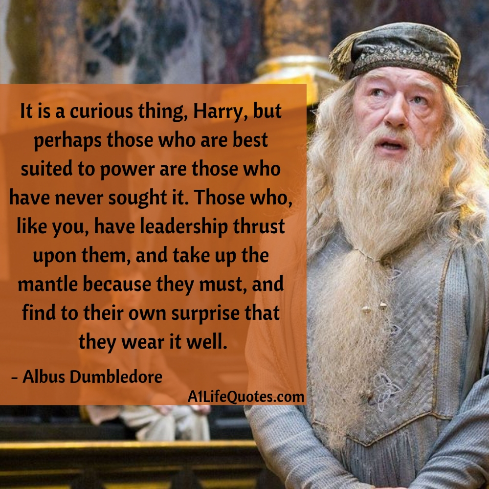 harry potter dumbledore quotes