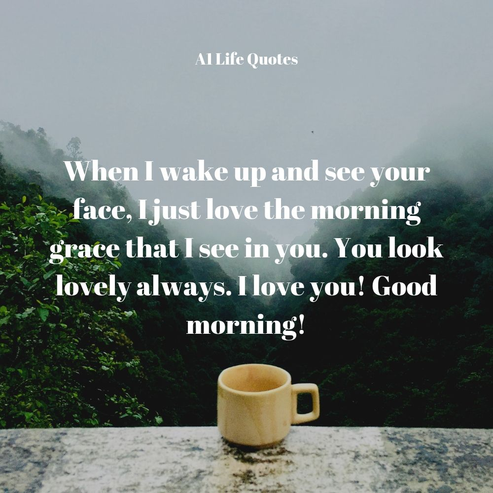 good morning message for my wife