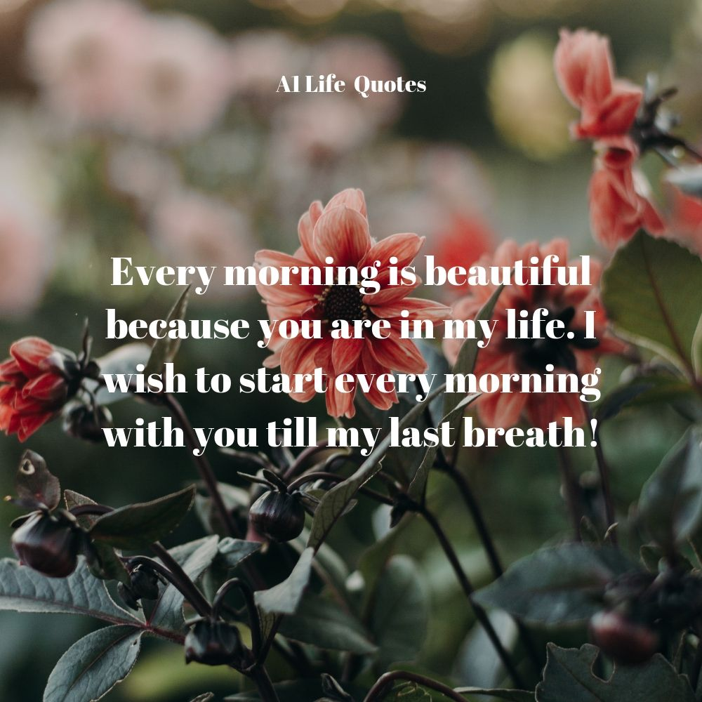 good morning quotes with flowers