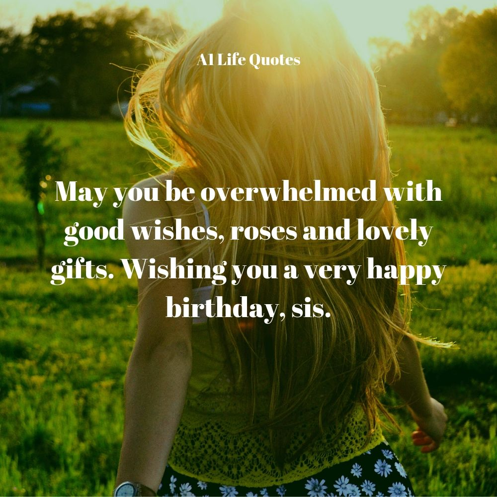 happy birthday message for elder sister