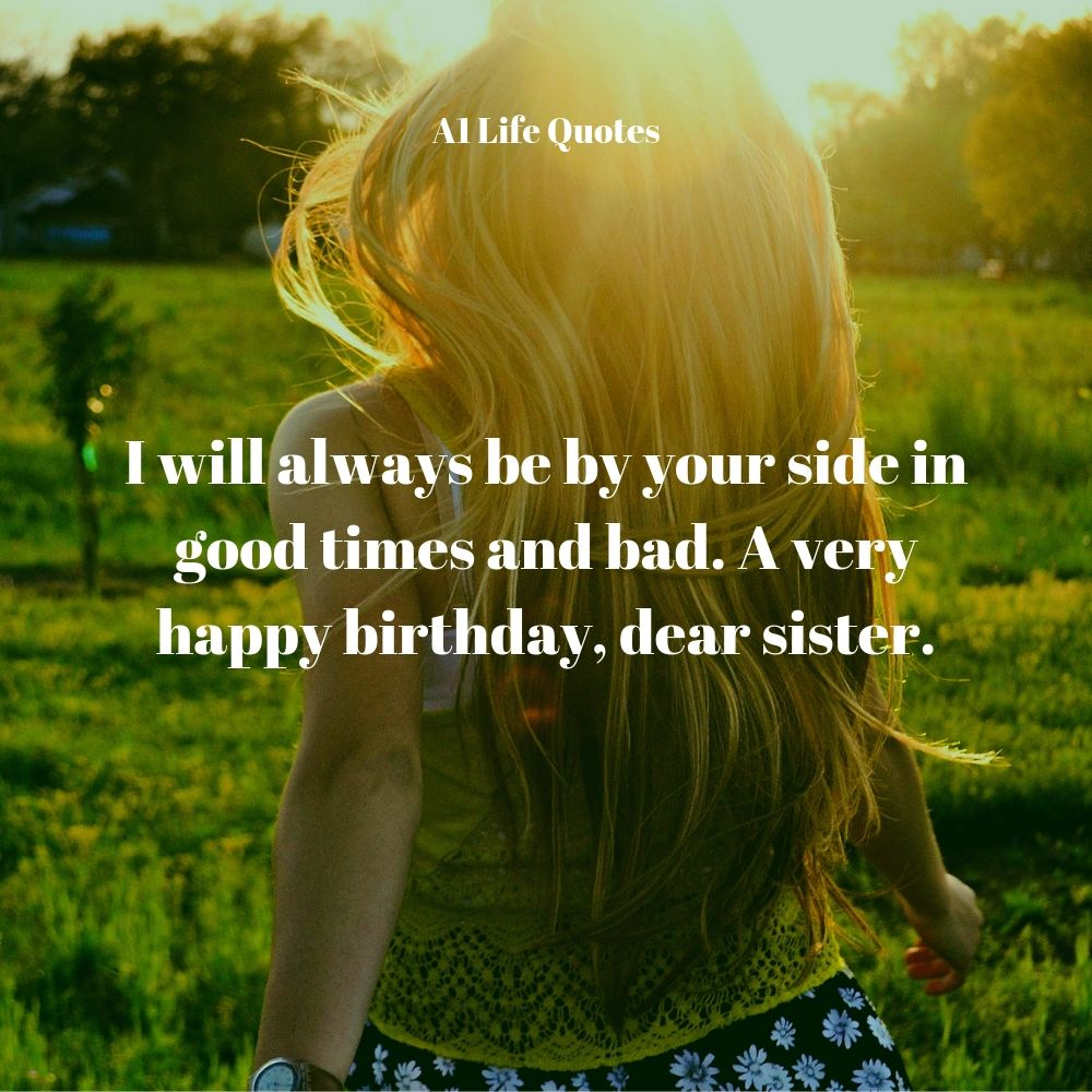 happy birthday message for little sister