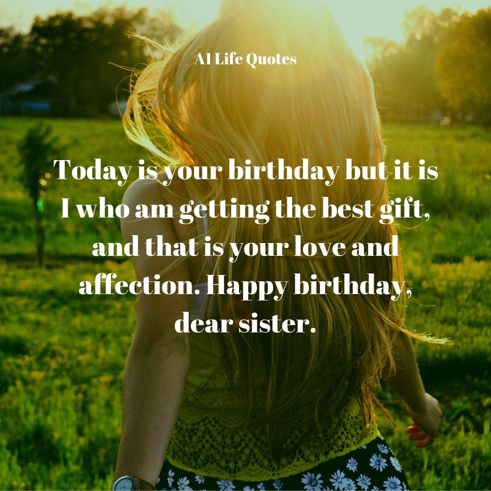 happy birthday message to your sister