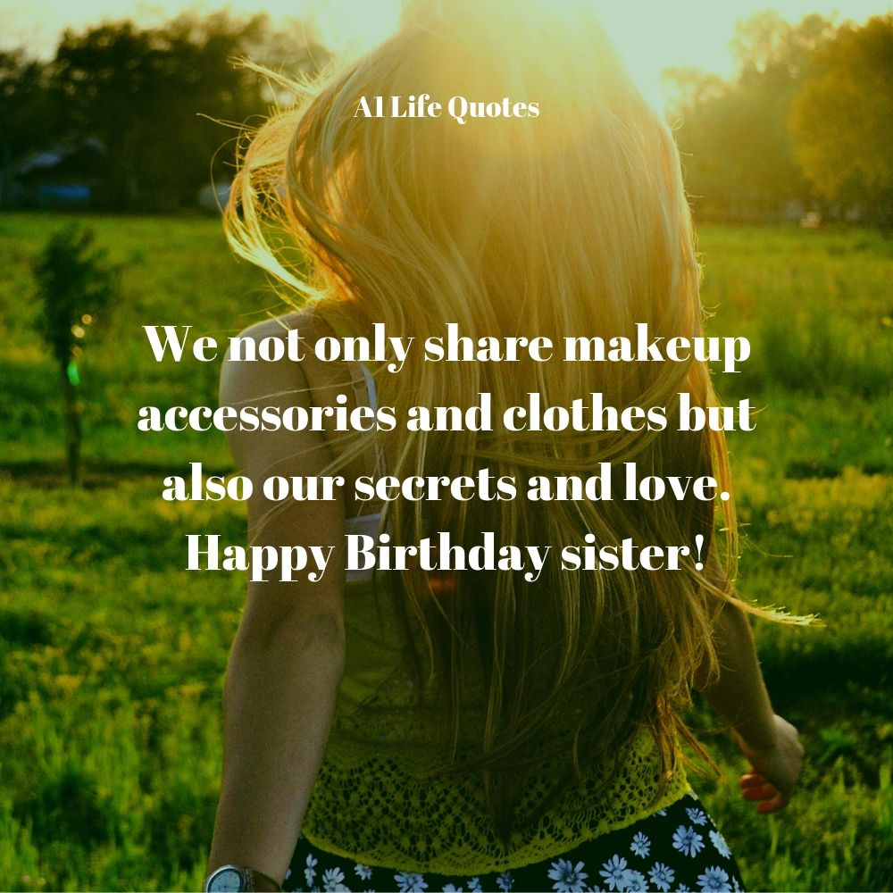 wishing your sister happy birthday