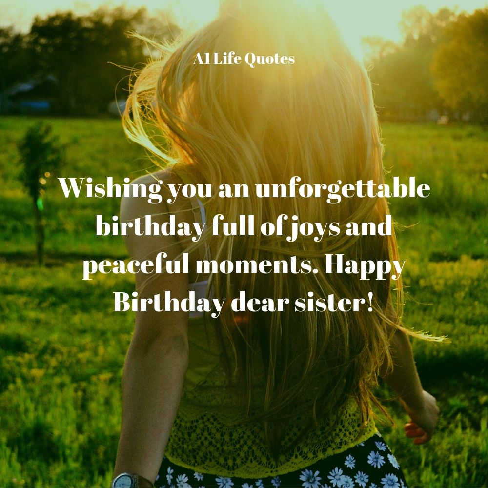 happy birthday to my sister message