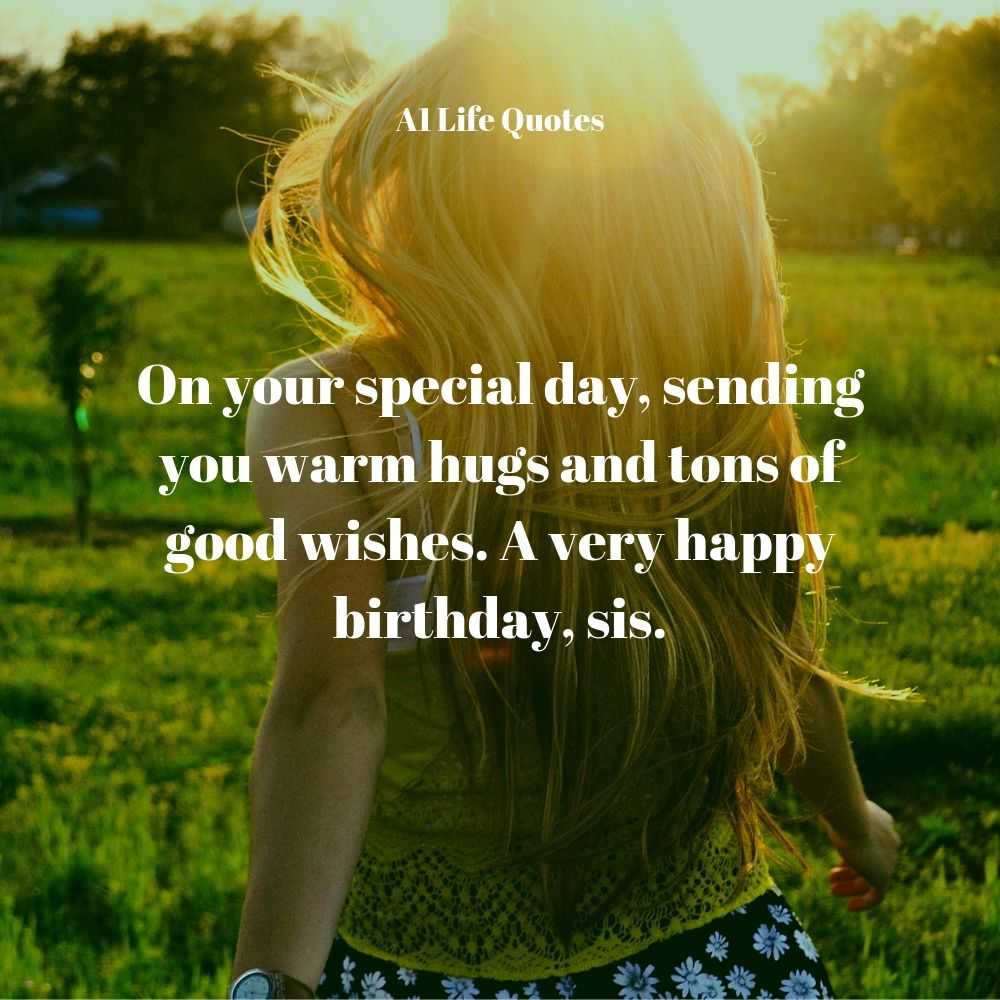 funny birthday wishes for sister quotes