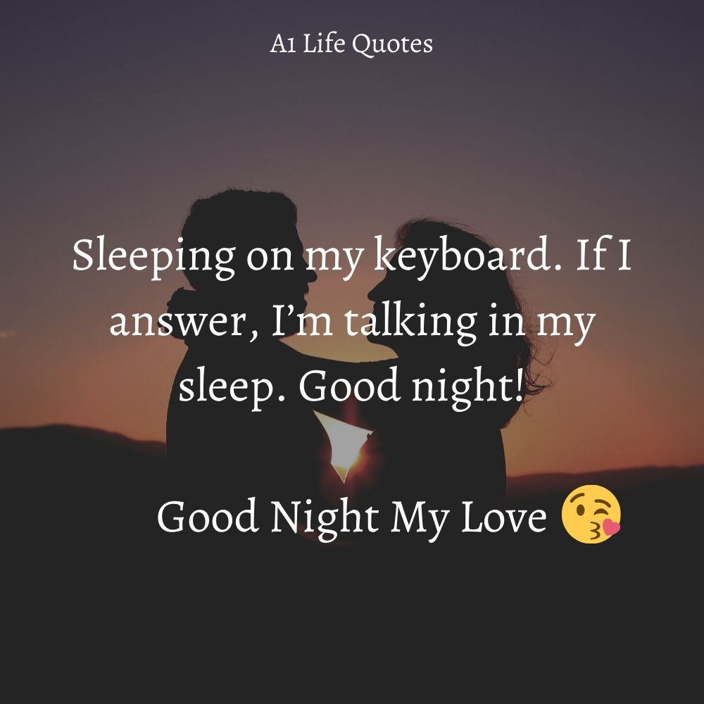 funny good night messages for her