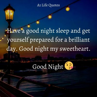 sweet good night messages for him