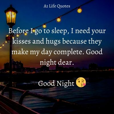good night message for boyfriend far away