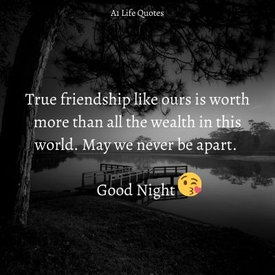 good night msg for friend