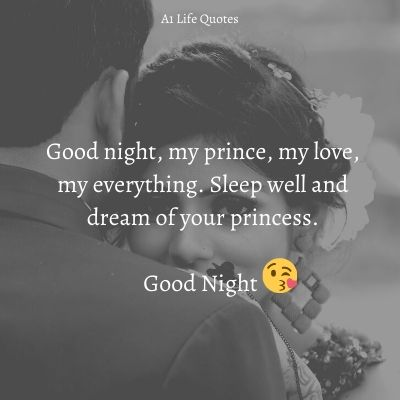 good night my sweet husband