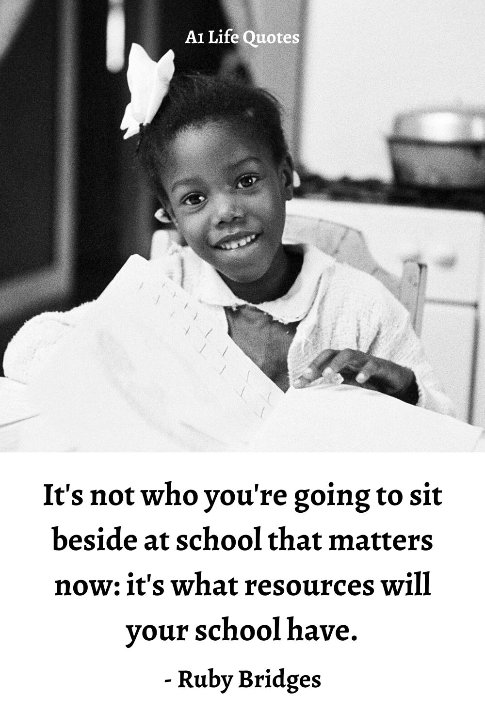 ruby bridges quotes about going to school