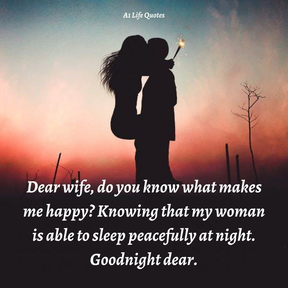 romantic good night message for my wife