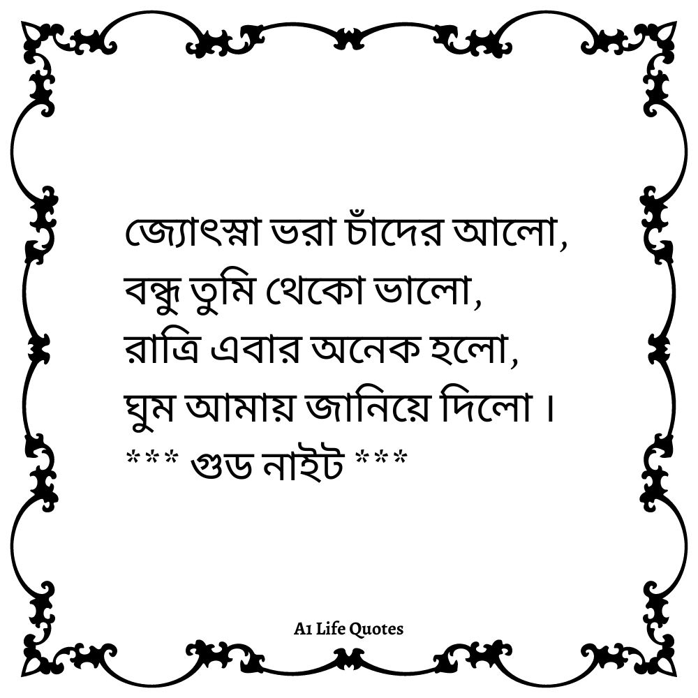 bengali good night shayari