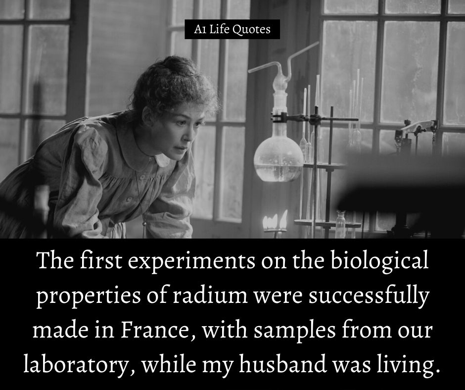 Marie Curie Quotes about Radium