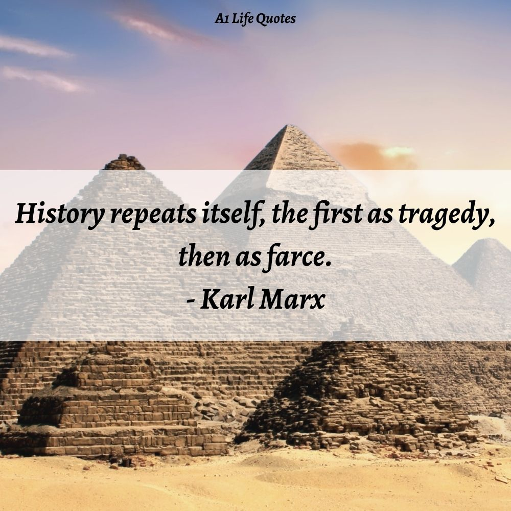 history repeats itself quote tragedy farce