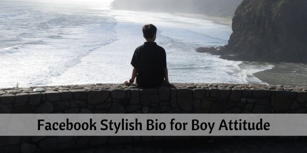 Facebook Stylish Bio for Boy Attitude