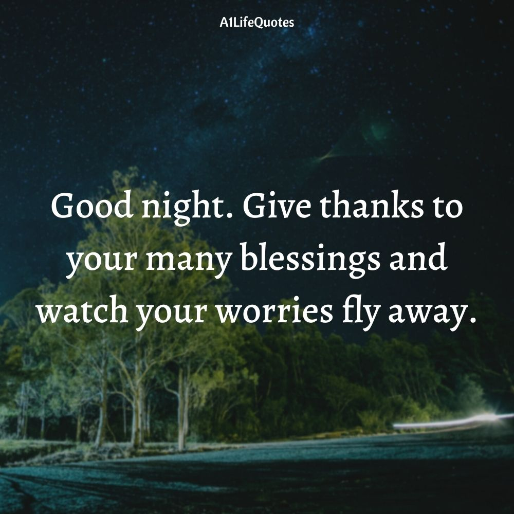 good night blessing images