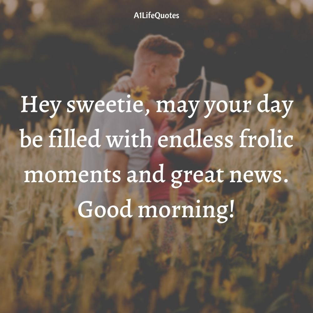 romantic good morning quotes for wife