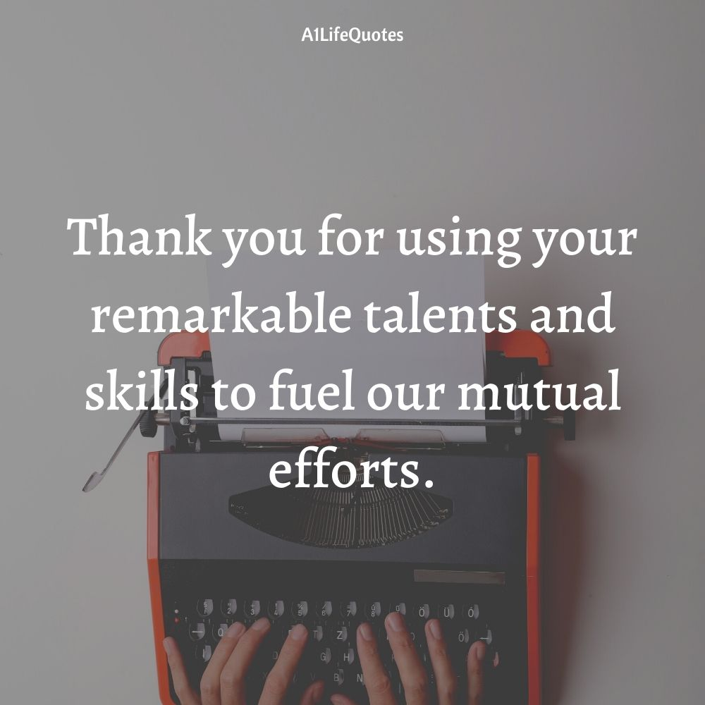 thank you teamwork quotes