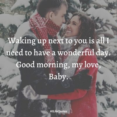 good morning baby i love you quotes