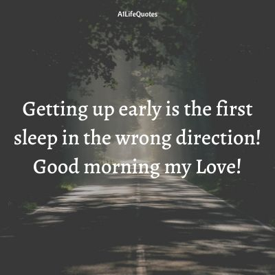 funny good morning love quotes for her