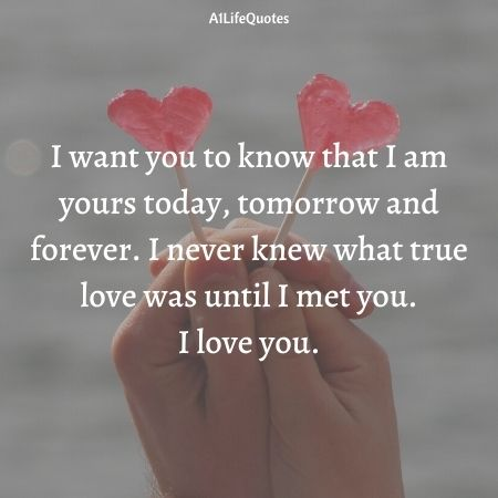 i love you forever quotes for her