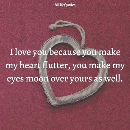 i love you because quotes for her