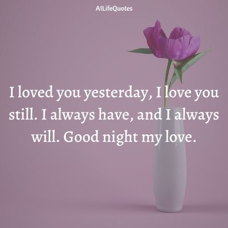 good night i love you quotes for her